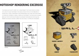 Wall-E Rendering in Adobe Photoshop